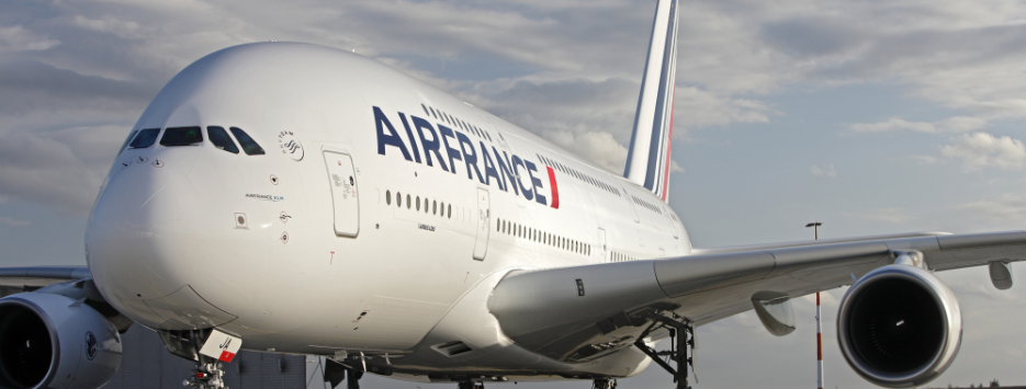 Stewardesele Air France. A380. Paris-Los Angeles.