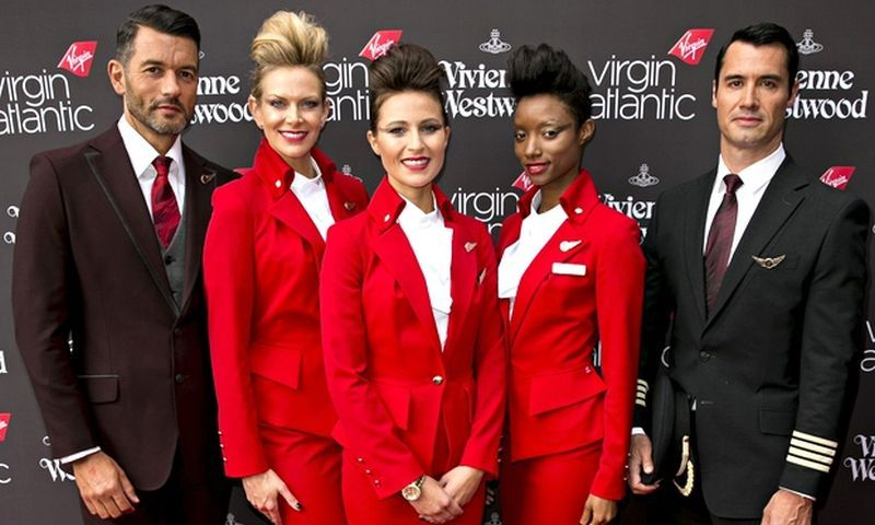Vivienne Westwood's Virgin Atlantic uniform